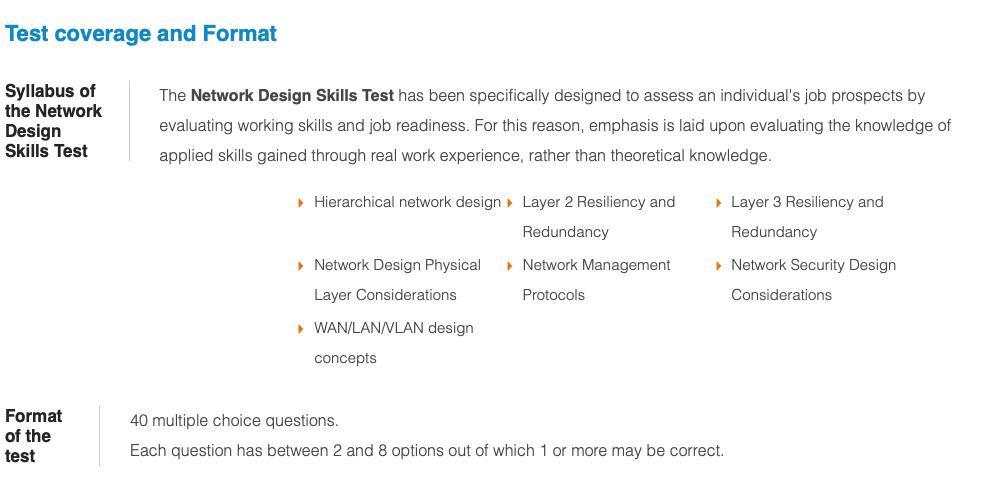 Network Designs Skills Test