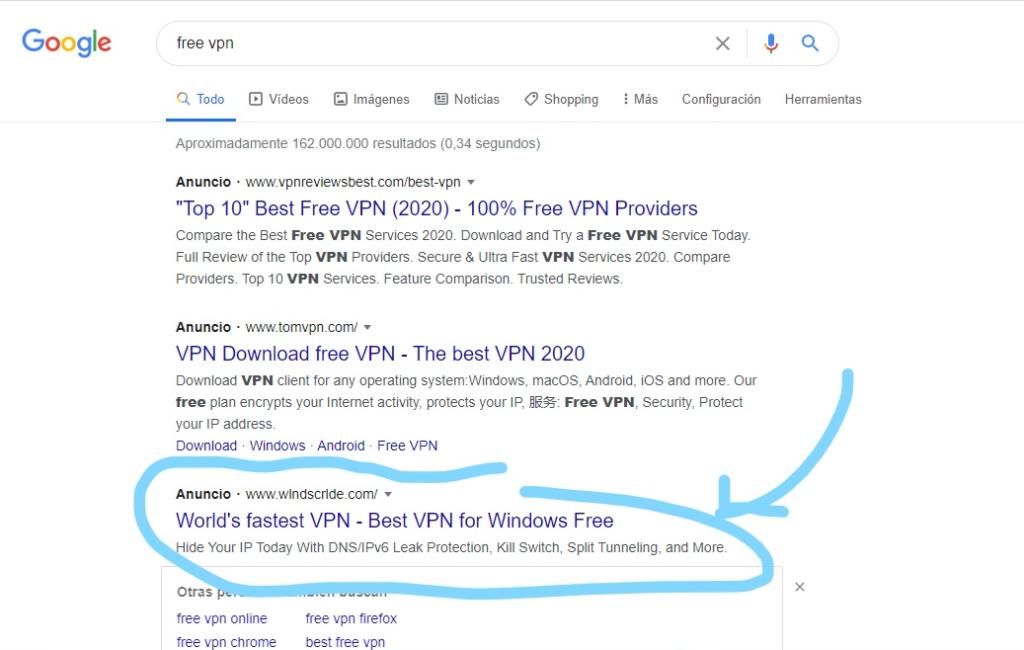 Windscribe Fake Site