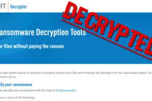 emsisoft release decryption tool